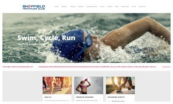 Sheffield Triathlon Club - Sheffield website Designers