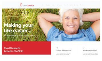Sykes Stairlifts - Sheffield website Designers