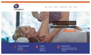 Valley Physiotherapy Clinic - Sheffield Website Designers