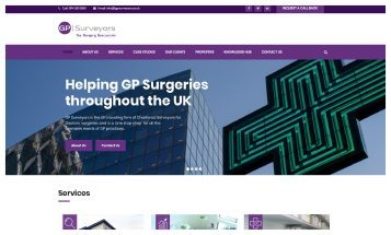GP Surveyors - Sheffield Website Designers