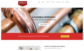 D.Birtles Plumbing and Heating - Sheffield Website Designers