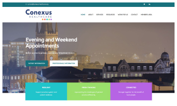 Conexus Healthcare - Sheffield Website Designers