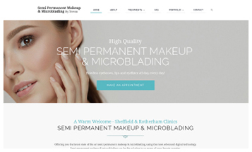 Semi Permanent Makeup Sheffield - Sheffield Website Designers