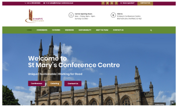 St Marys Conference Centre - Sheffield Website Designers